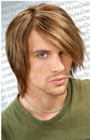 men long hairstyles. men medium long hairstyle with