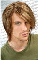 men medium long hairstyle with long side bangs with high lites.jpg