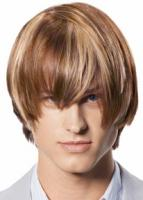 Pictures of Men's Medium Haircut with very long bangs with high lights