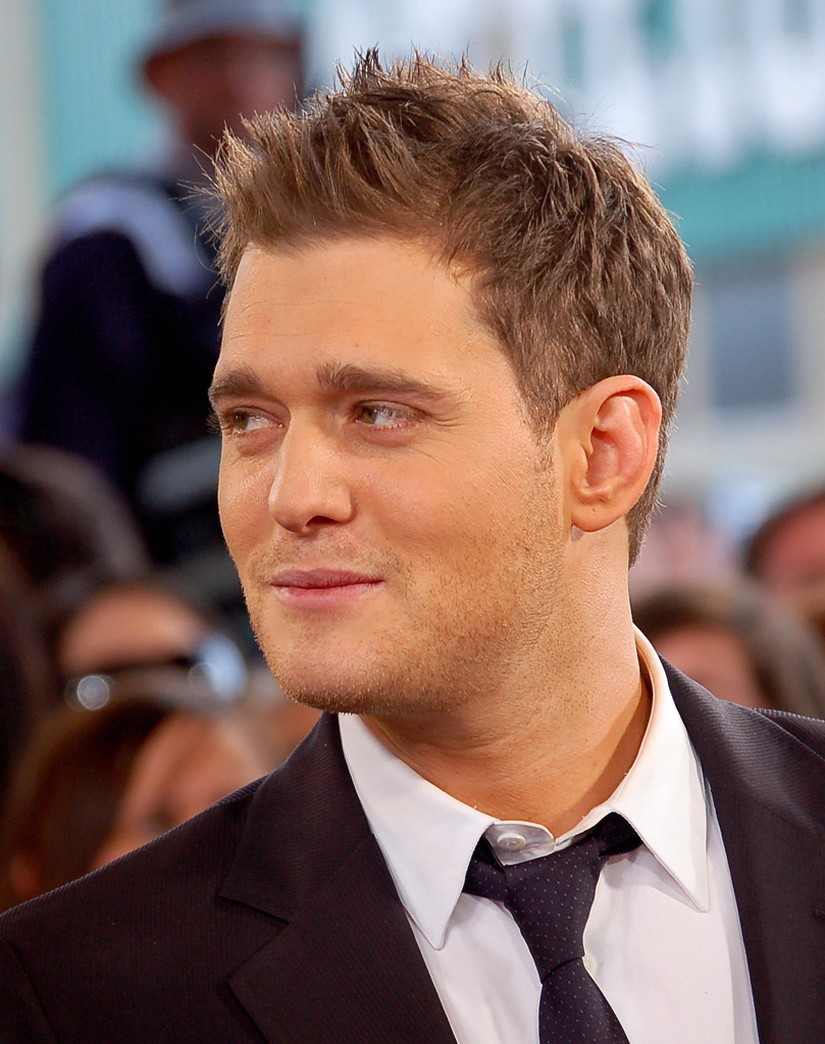close up picture of Michael Buble hairstyle with spiky bang.jpg