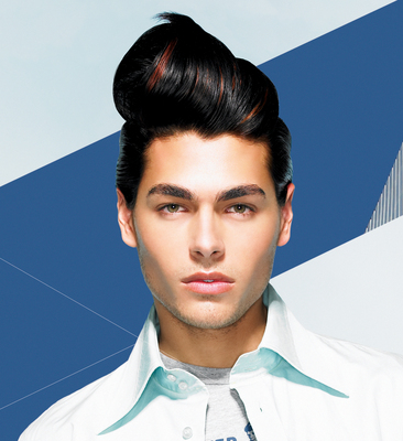 Modern Man Hair style, Long Hair, two toned, black and red