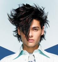 Long Messy, spiky  & wavy Hair Style, two toned