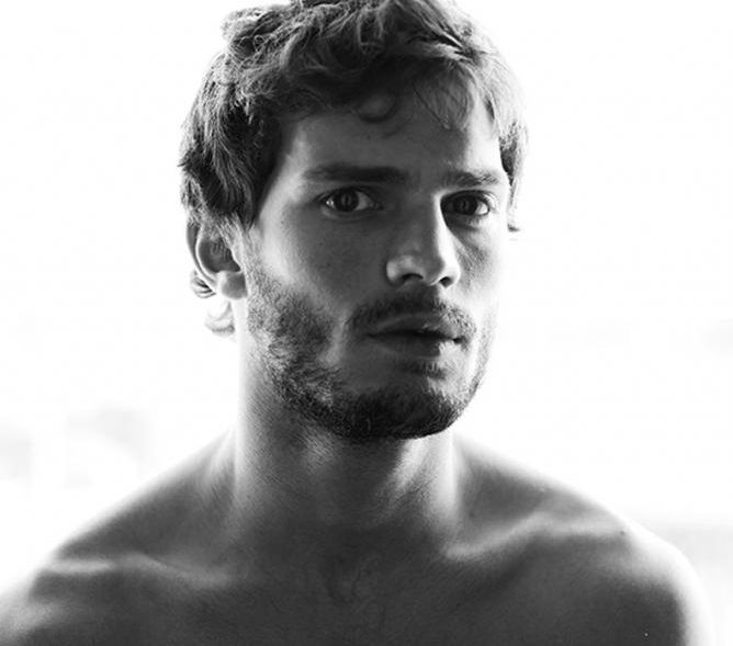 very hot sexy Jamie Dornan with curly haircut picture