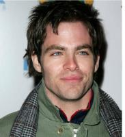 photo of hot sexy actor Chris Pine with spiky hairstyle.JPG
