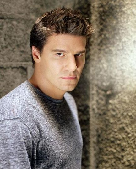 David Boreanaz with his very spiky hair in his Angle show movie.JPG