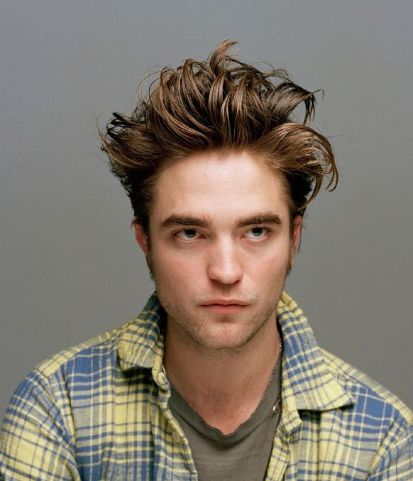 Robert Pattinson in Dossier Magazine with his standing up hairstyle looking pretty cute.JPG