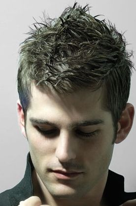 very short man hairstyle with extreme spiky on the very