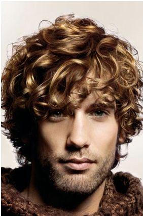 men medium curly hair with curly bang pictures 4