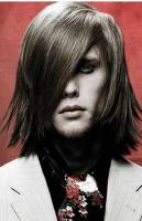 Man medium long haircut with layers with very long side bang photos.JPG