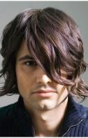sexy man medium hairstyle with very cool long wavy bangs.JPG