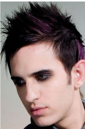 mens spiky hairstyles. Men light punky haircut with
