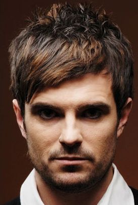 Men stylish haircut with highlights and long swept bang pix.JPG