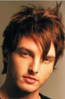 Light emo hairstyle with spiky on the top in brown hair pictures.JPG