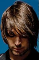 Man medium long hairstyle with swept long bangs with highlight.JPG
