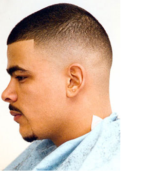 Very short Taper Fade as mens haircut PNG 1 ment