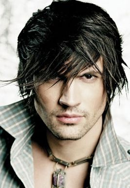 men sexy hairstyle with long swept bangs with full of layers.JPG