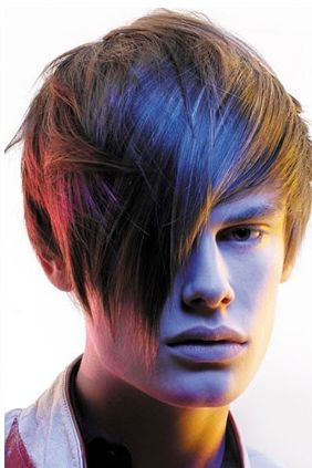 Trendy young man hairstyle with long layered bangs swept on the front .JPG