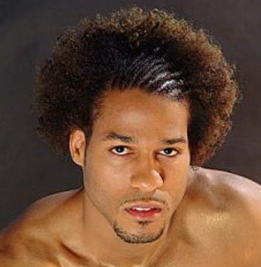 Cool African American men hairstyle in long length.PNG