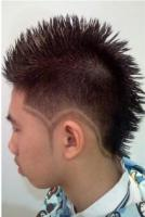 Asian punky haircut with full of spikes and very cool patterns on the sides.JPG