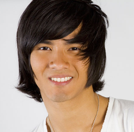 long hairstyles with bangs and layers. Trendy Asian men hairstyle