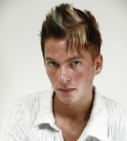 Picture of man fashion Mohawk  haircut with highlight and long bang.PNG