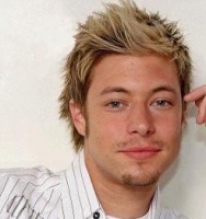 Two tones blonde man hairtstyles with full of spikes and bang sticking in the air.PNG