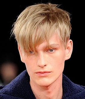 Chic men haircut with long layered bangs with very short hair in the back.PNG