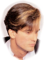 Men medium hairstyle with long bangs