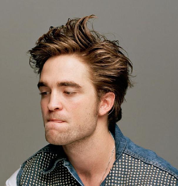 Robert Pattinson In Dossier Magazine With His Medium Spiky Hairstyle