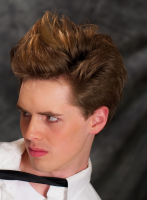 Man 2010 short hairstyle with spiky top bang.PNG