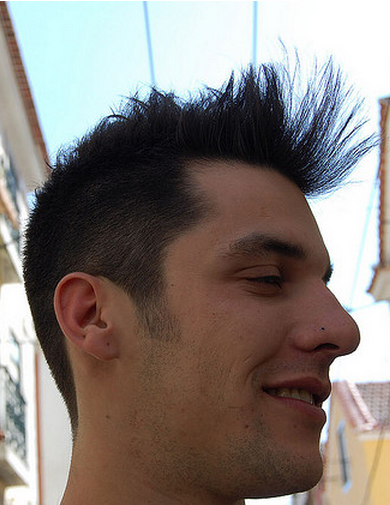 Cool men hairstyle with very long spiked bang.PNG