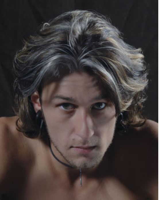 Men wavy hairstyle with long wavy swept bangs with highlites.PNG