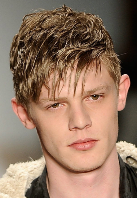 young mens hairstyle. Young men short hairstyle with