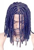 Man Braid Hair Style, black