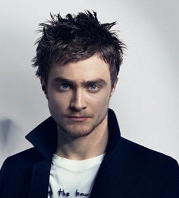 Harry Potter main character Daniel Radcliffe photos with his spiky haircut.PNG
