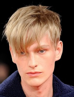 Short layered men hairstyles with long bangs with short in the back.PNG