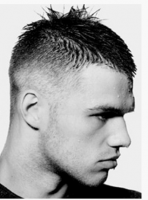 Very short spiky men haircuts images