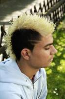 Boy punk hairstyle