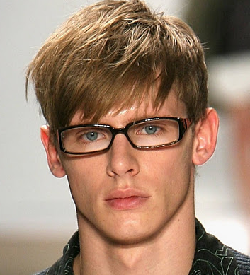 Fashionable men hairstyle with long straight hair and long